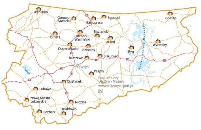 mapa Cittaslow