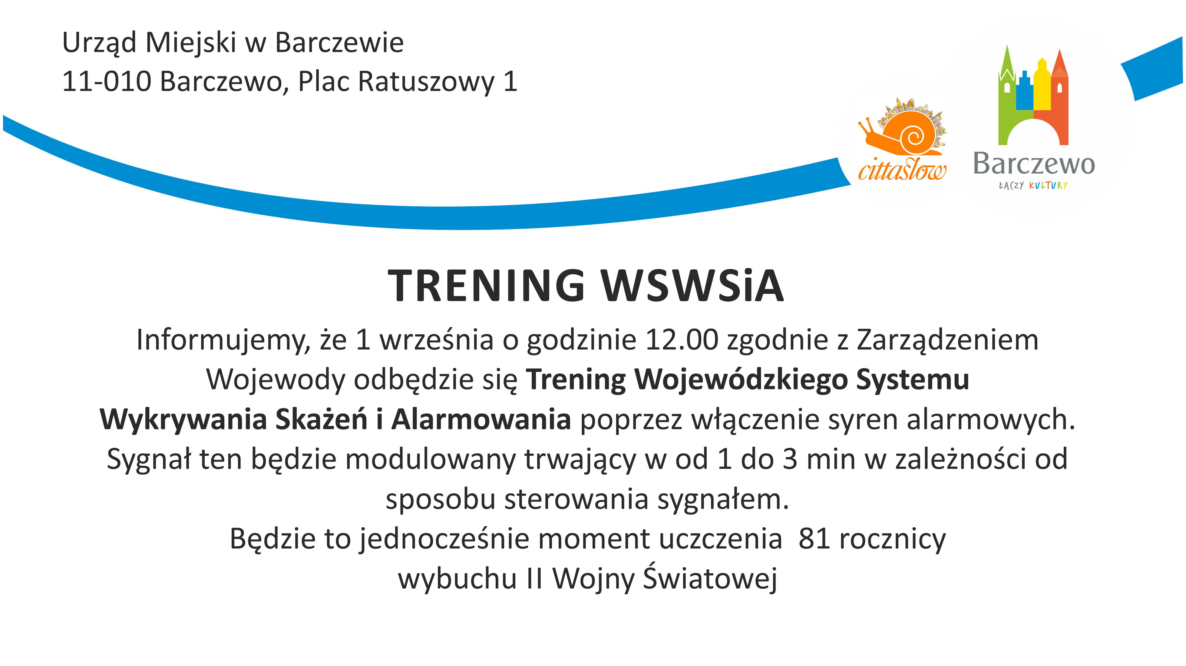 Trening WSWSiA