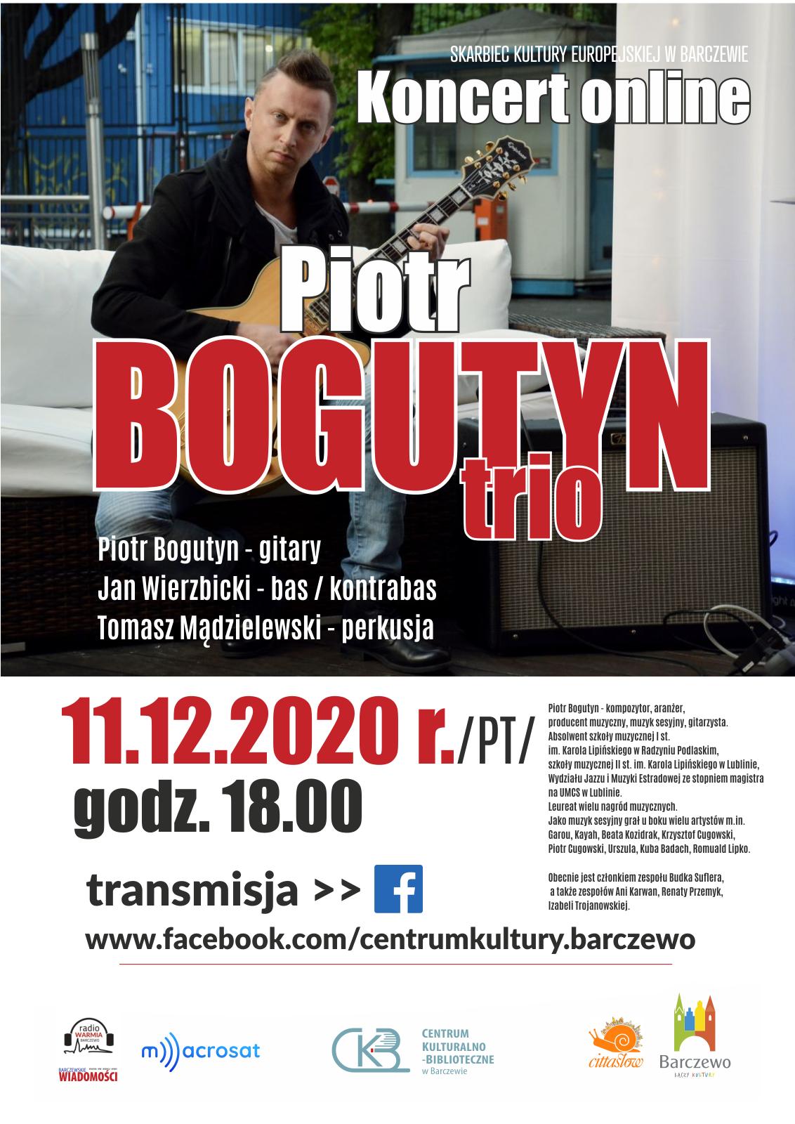 Piotr Bogutyn Trio – koncert online