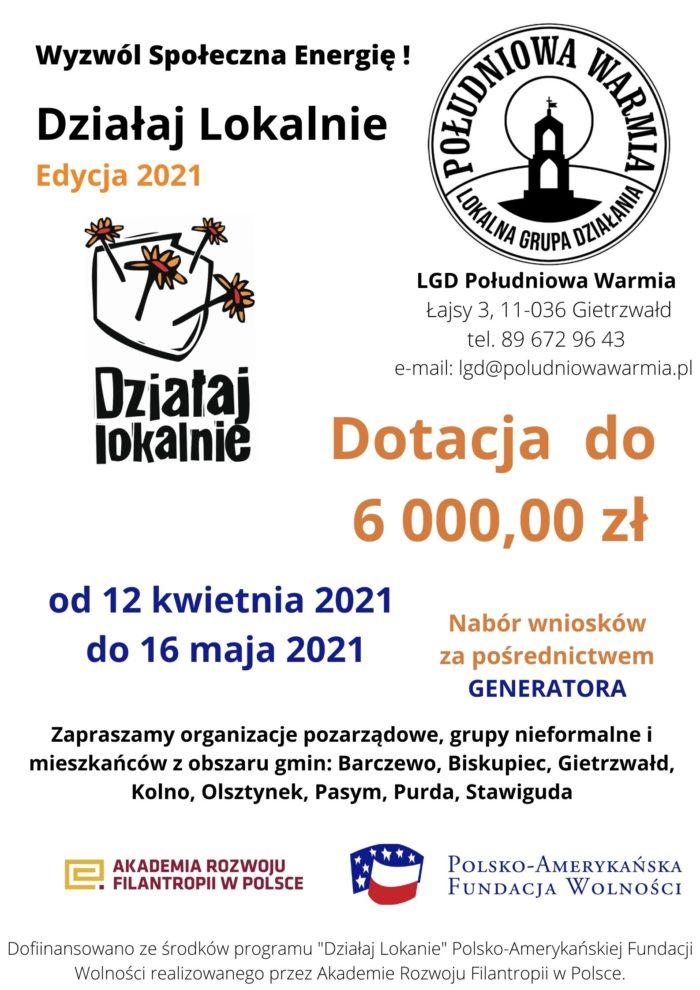 """Program """"Działaj Lokalnie"""" – nabór trwa"""