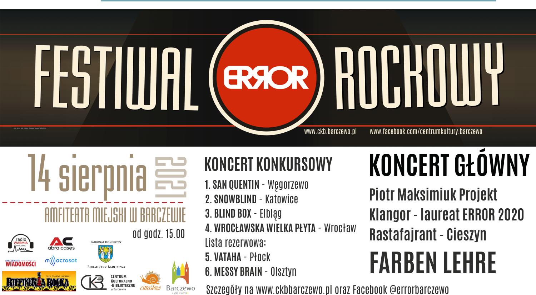 Festiwal Rockowy ERROR 2021