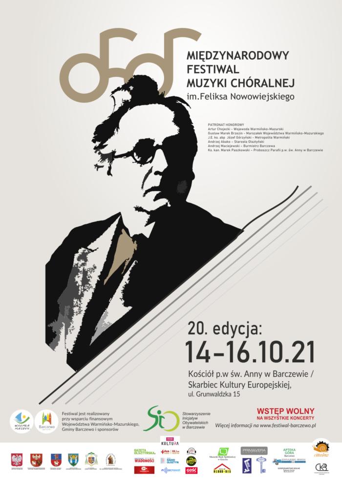 XX Międzynarodowy Festiwal Muzyki Chóralnej im. Feliksa Nowowiejskiego w Barczewie!
